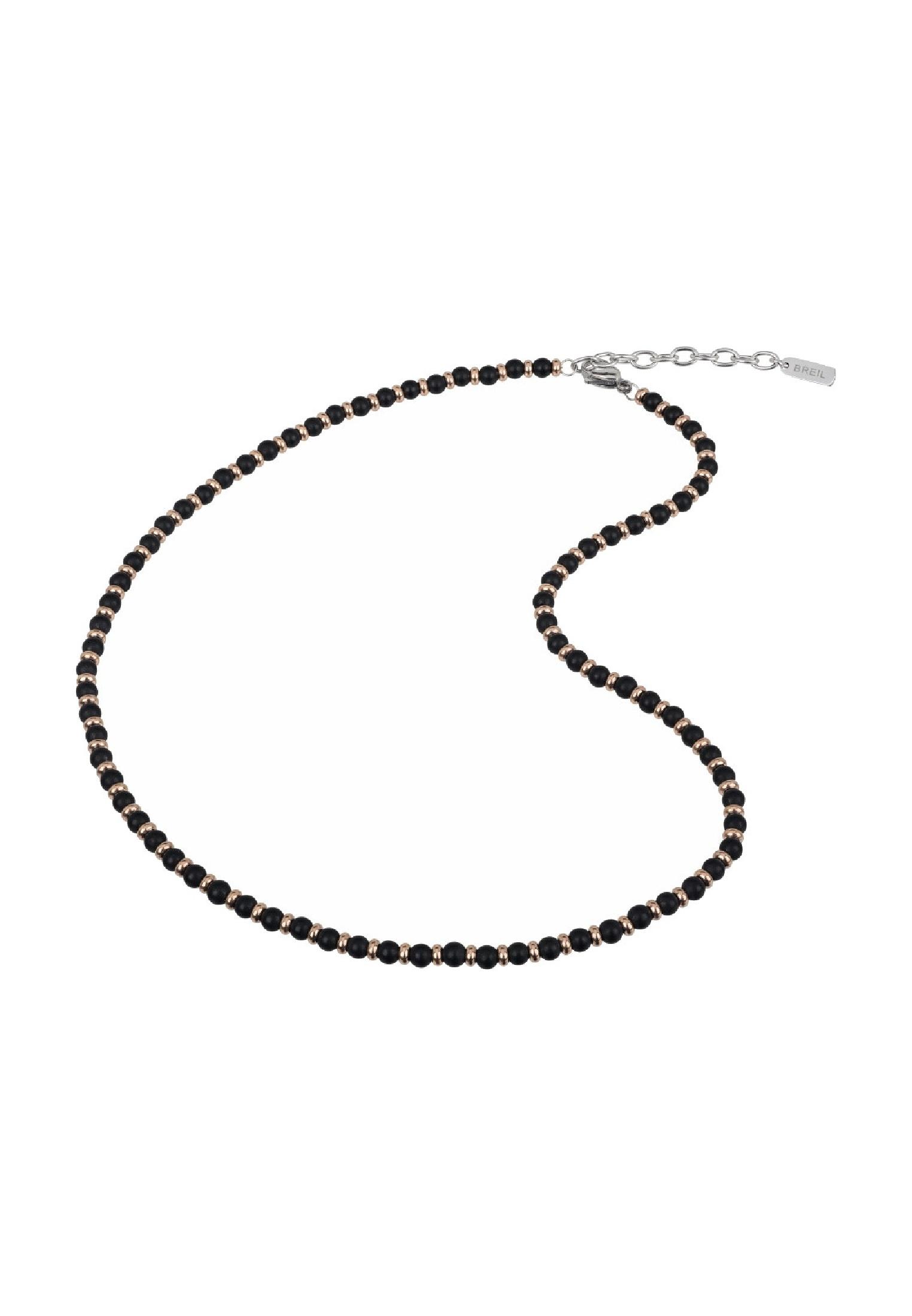 Breil Collana Uomo collezione BLACK ONYX con pietre multiple in con pietre