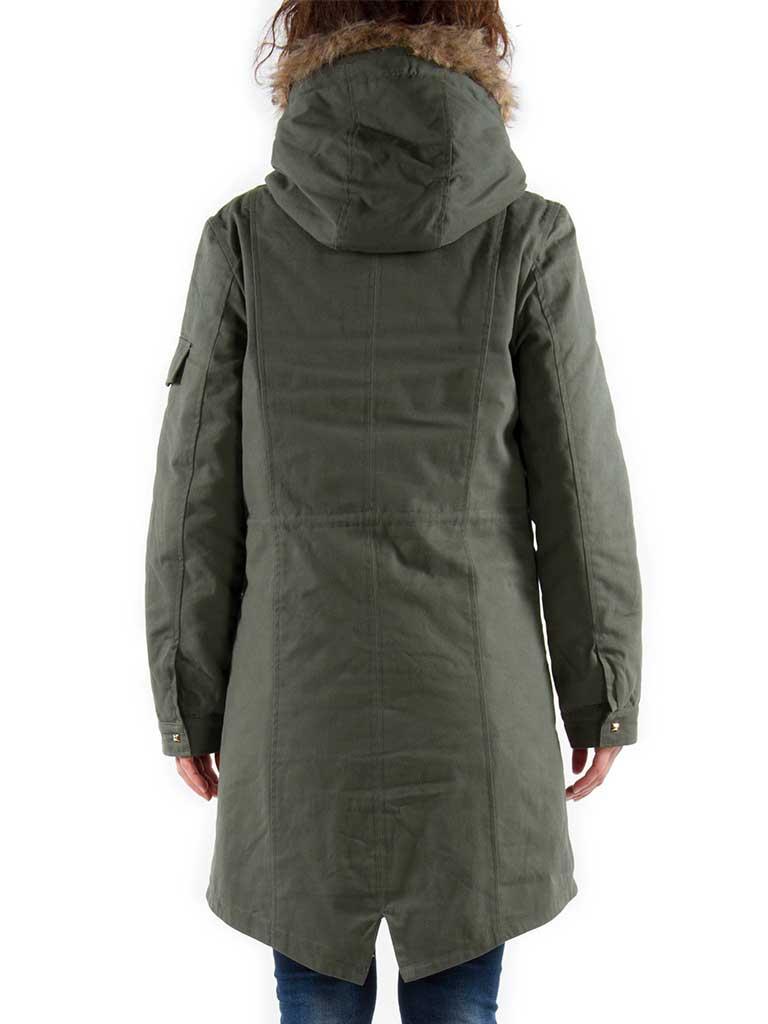 b77843fbab Dettagli su Carrera Jeans - Parka per donna, tinta unita, pelliccia  ecologica