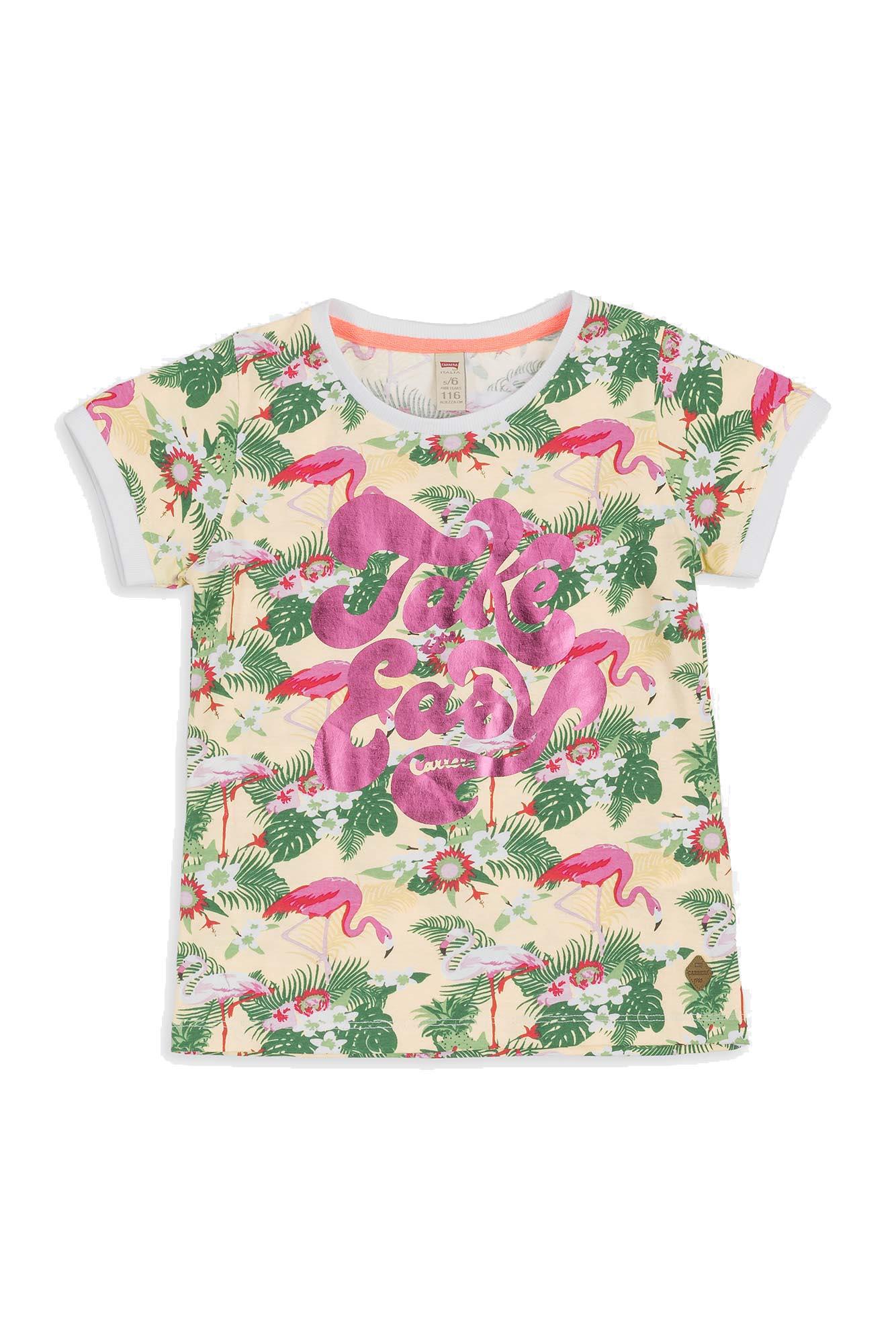 Modello con Stampa T-Shirt per Bambina Carrera Jeans