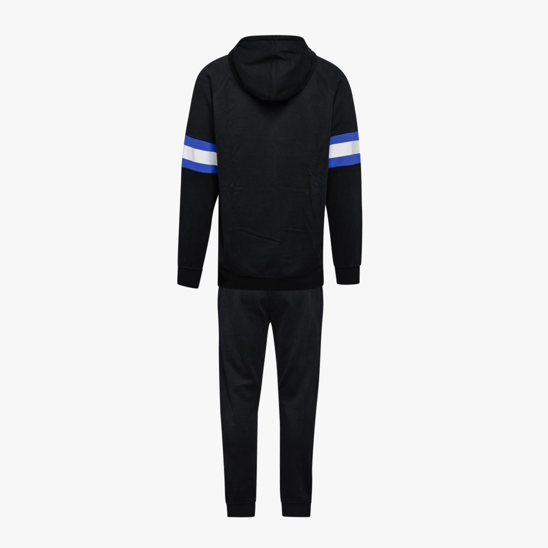 TUTA DIADORA UOMO 173575 Hd Fz Suit Brushed Fl Nero Blu