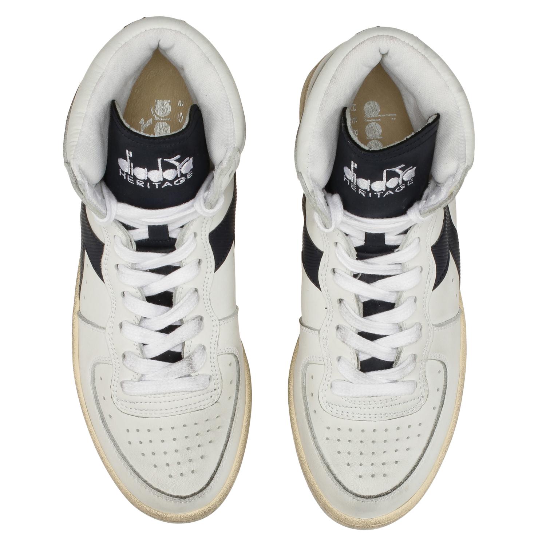 Dettagli su Diadora Heritage Sneakers MI BASKET USED per uomo e donna